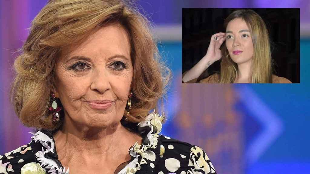 María Teresa Campos en montaje de JALEOS junto a su nieta Carmen Rosa.