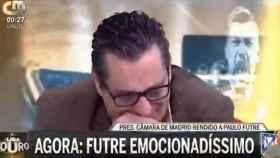 Paulo Futre, emocionado tras las palabras de Almeida