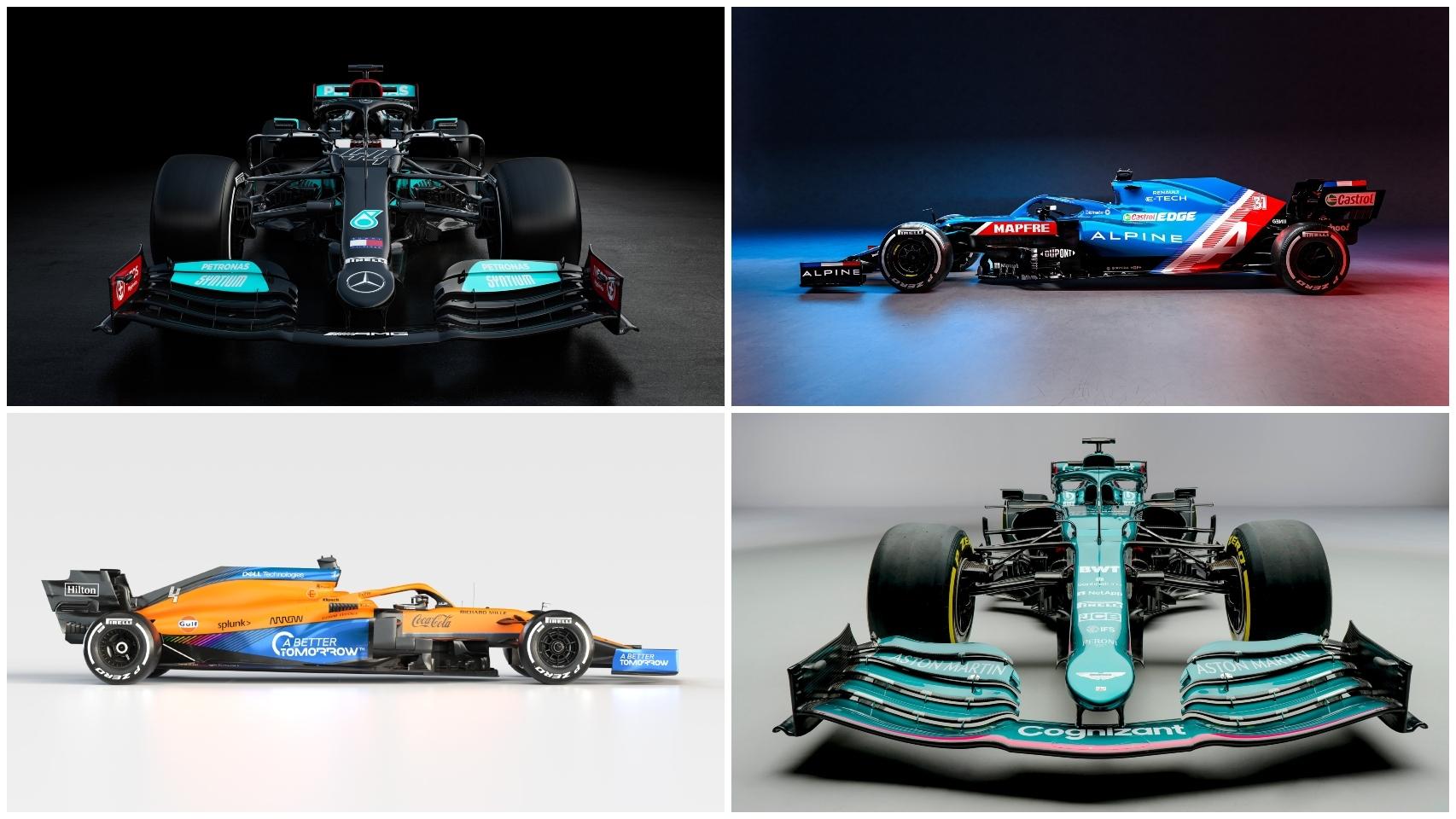 Los monoplazas de Fórmula 1 para 2021