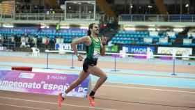 Mohamed Katir, en el Campeonato de España de Pista Cubierta en Gallur. Foto: atletismecastello.es