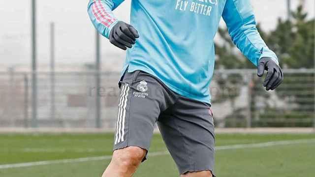 El estado de Benzema y Hazard marca el último entrenamiento del Real Madrid