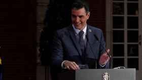 Pedro Sánchez, en el Palacio de la Moncloa.