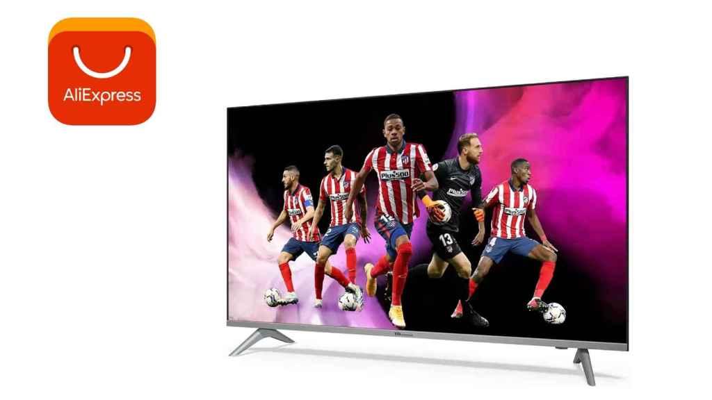 AliExpress lanza un televisor de 43 pulgadas por un euro.