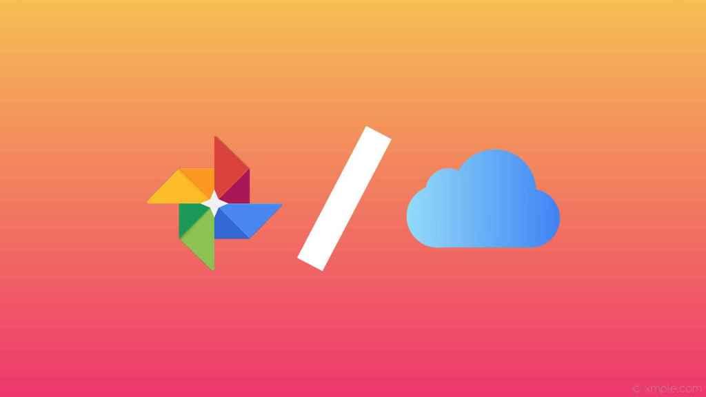 iCloud y Google Fotos.