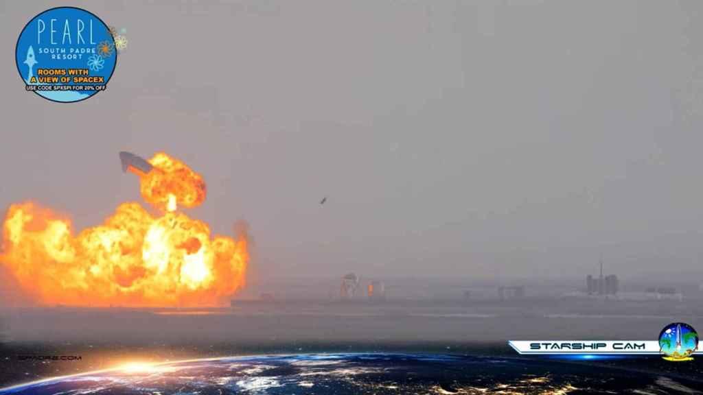 Explosión de la Starship SN10
