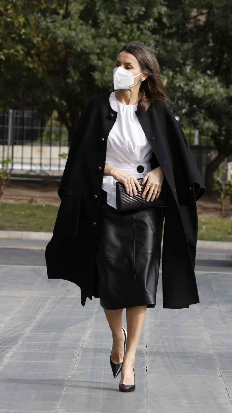 El 'outfit' de la Reina de este viernes.