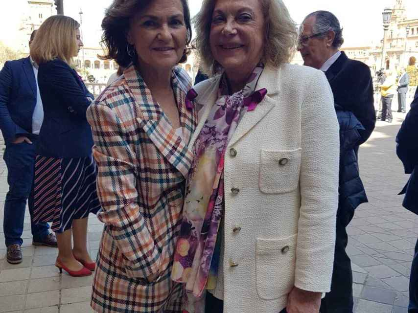 Amparo Rubiales con Carmen Calvo.