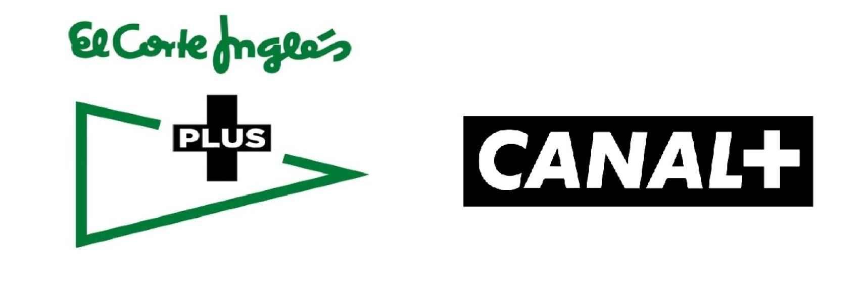 Logos de El Corte Inglés Plus y Canal+.