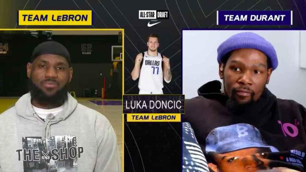 LeBron James elige a Luka Doncic en el sorteo del All Star Game