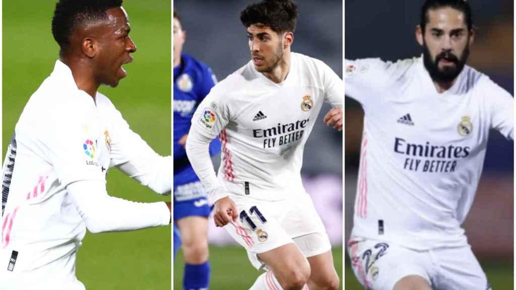 Vinicius, Asensio e Isco: tres exámenes en el Real Madrid sin Benzema
