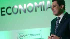El presidente andaluz, Juanma Moreno, en el Cercle d'economía en Barcelona