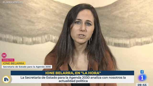 Ione Belarra, secretaria de Estado para la Agenda 2030, en TVE.
