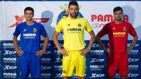 La 'X' de XTEP en la camiseta del Villarreal en 2014-15.