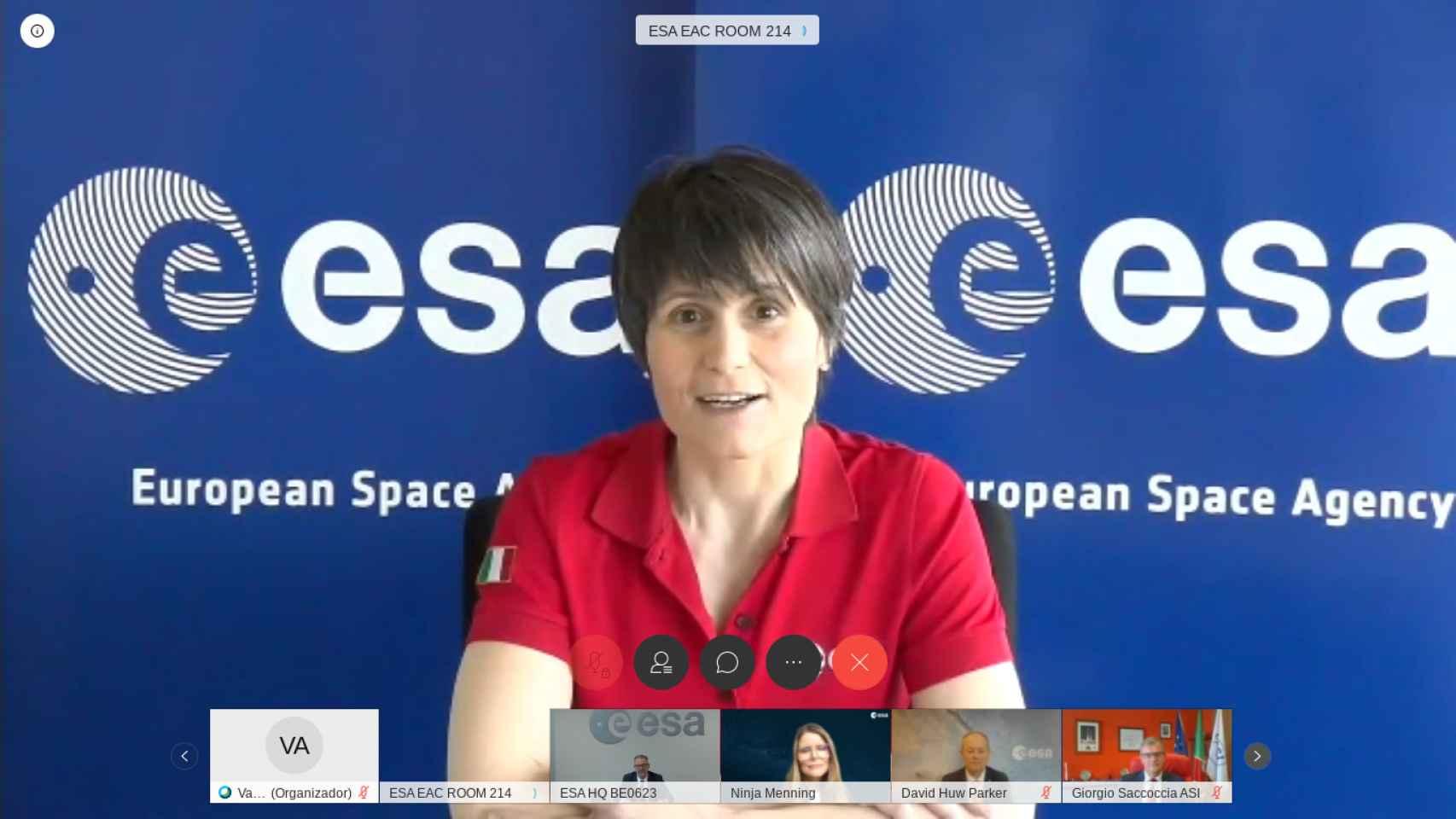 Samantha Cristoforetti, astronauta de la Agencia Espacial Europea.