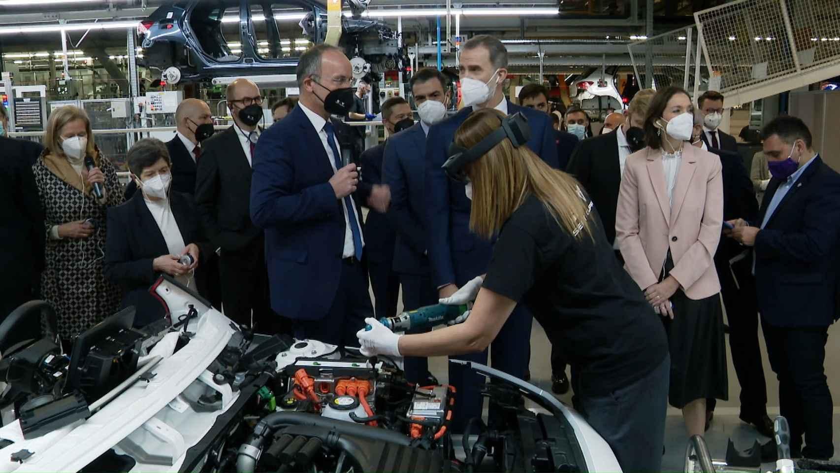 Presentación de primer PERTE en la fábrica de Seat en Martorell (Barcelona).