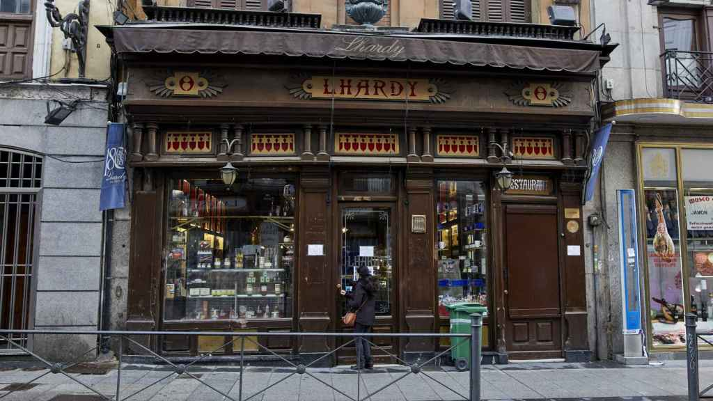 El restaurante Lhardy, en Madrid.