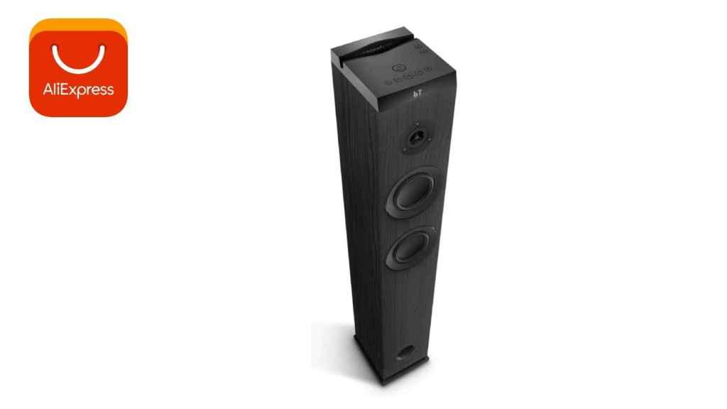 AliExpress ofrece una torre de sonido por menos de dos euros.