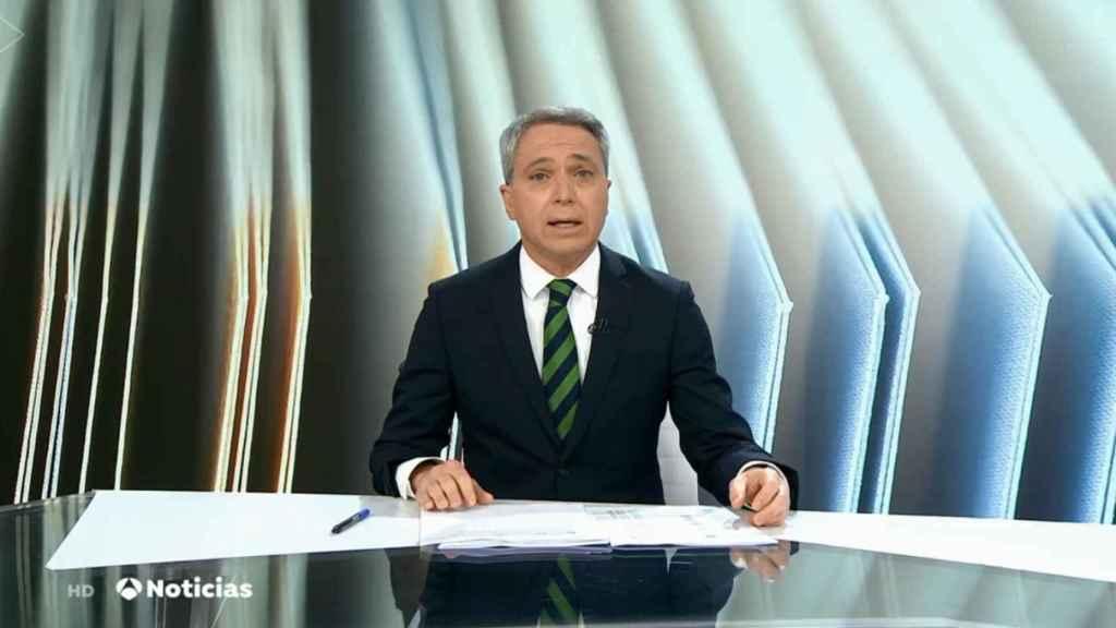 Vicente Vallés en el informativo del pasado 1 de marzo.