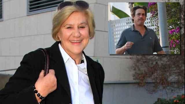 Carmen Bazán en montaje de JALEOS junto a Luis Masaveu, la pareja sentimental de su hija Carmen.