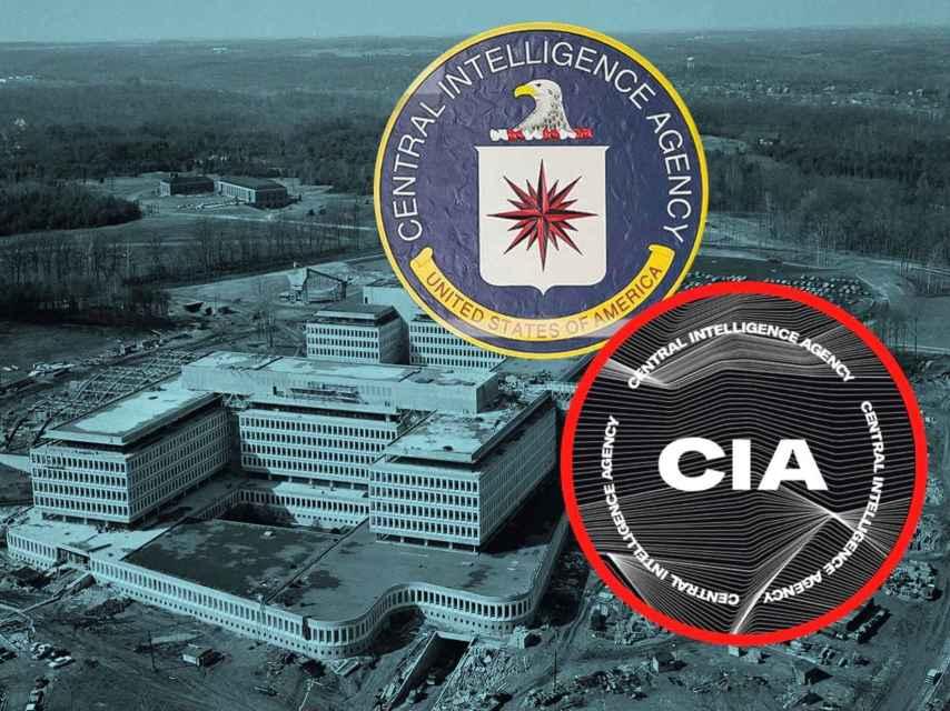 El logo de la CIA y el que han retirado.