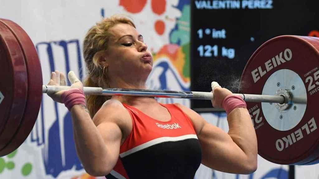 Lydia Valentín durante una prueba en la Copa de España