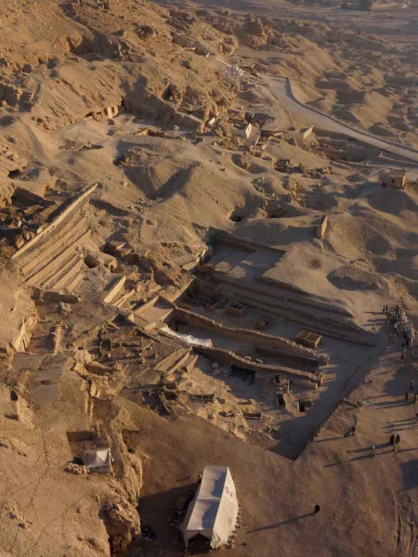 Vista aérea del sector 10 del yacimiento.