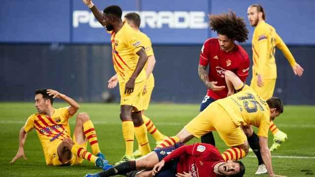 Las mejores imágenes del triunfo del Barça: del golazo de Jordi Alba a los fallos de Osasuna