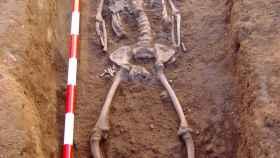 Una de las princesas halladas, que fue enterrada con joyas de oro.