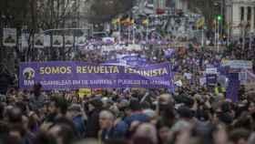 Imagen de archivo de una de las multitudinarias manifestaciones del 8-M de 2020.