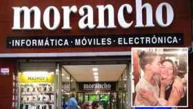En la imagen pequeña, Anya Taylor-Joy y su madre, Jennifer Joy y, de fondo, la tienda Morancho, en Zaragoza.