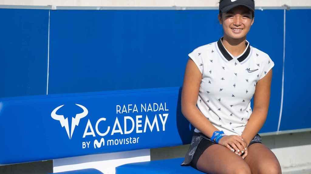 Alex Eala, en la Rafa Nadal Academy