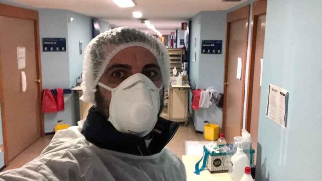 Naim Shosandy en el Hospital de Albacete.