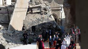 El Papa en su visita a Irak.