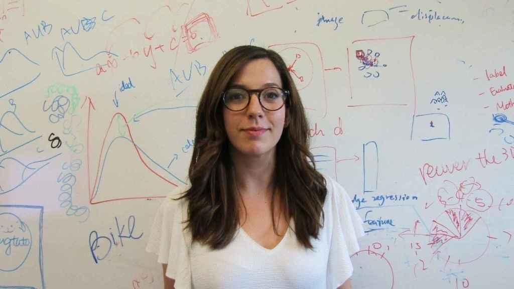 María Pérez Ortiz, investigadora posdoctoral en inteligencia artificial en el University College London.