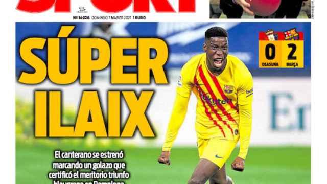 La porta del diario SPORT (07/03/2021)