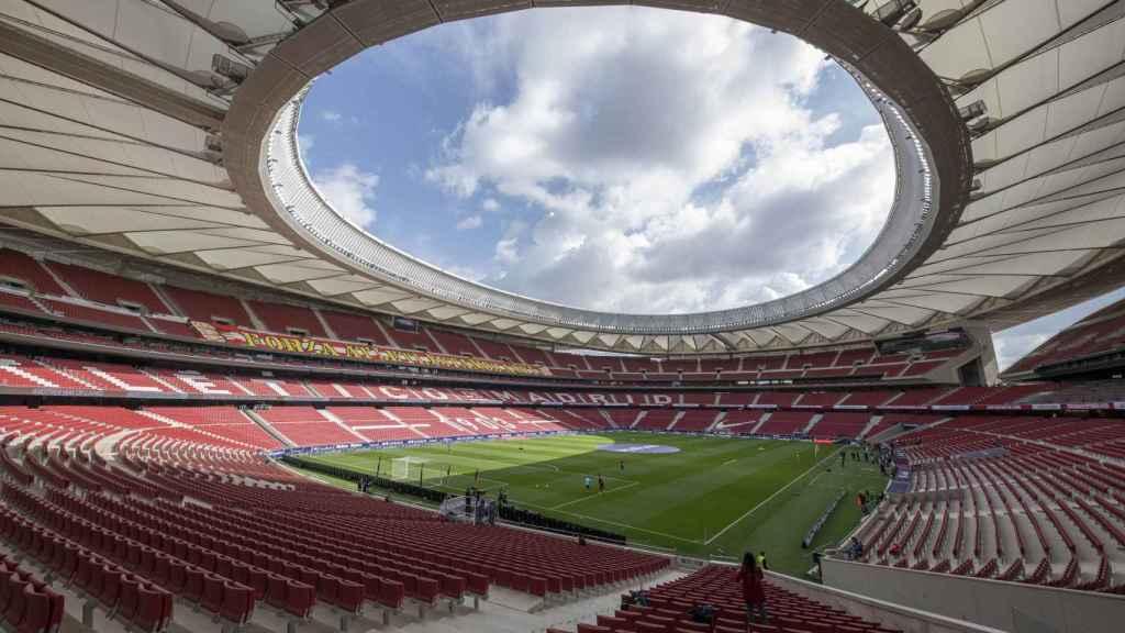 El Estadio Wanda Metropolitano antes del Atlético de Madrid - Real Madrid de la jornada 26 de La Liga