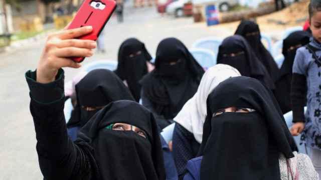 Selfie con burka.
