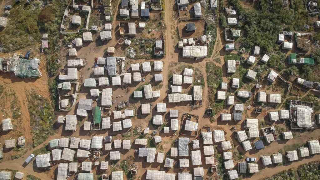 Vista aérea del asentamiento chabolista de Lepe, el más grande y poblado de toda la provincia de Huelva.