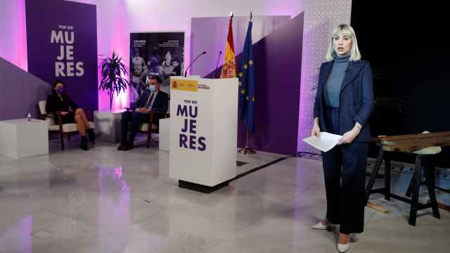 La actriz Daniela Santiago, en el acto institucional del Ministerio de Igualdad por el 8-M.