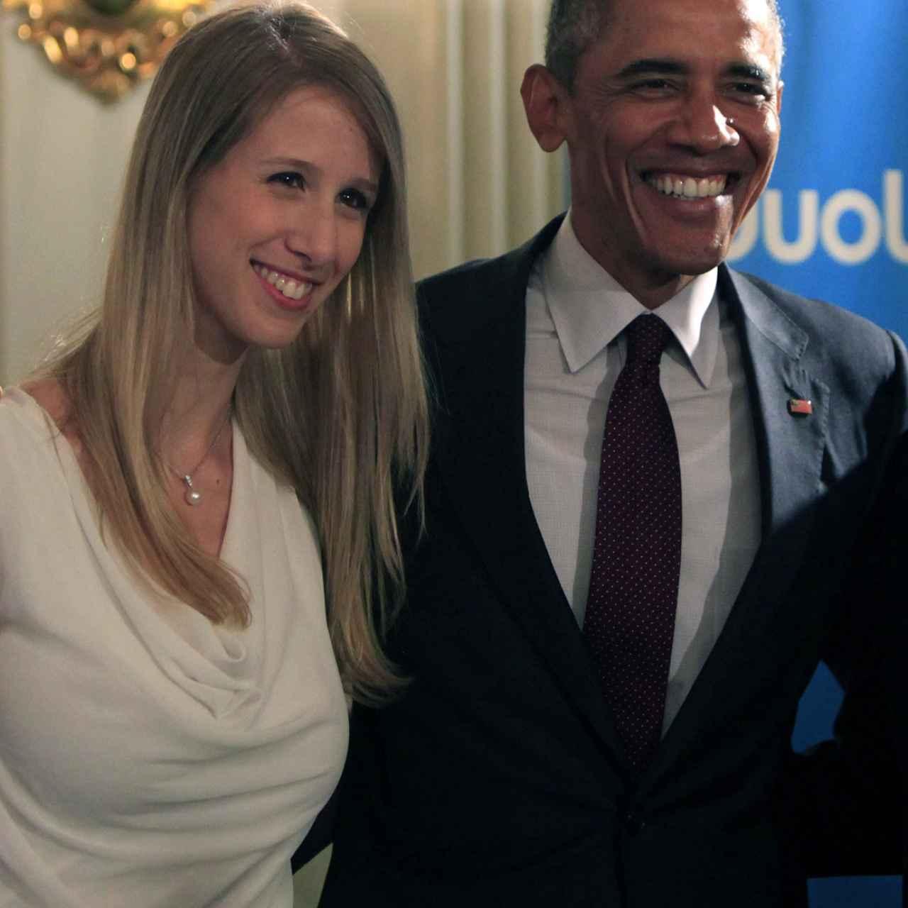 Gina Gotthilf, junto al expresidente estadounidense Barack Obama