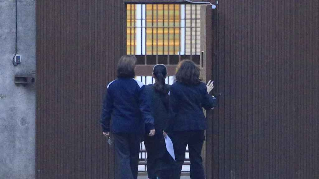 Imagen del día que Pantoja entró en prisión por primera vez.