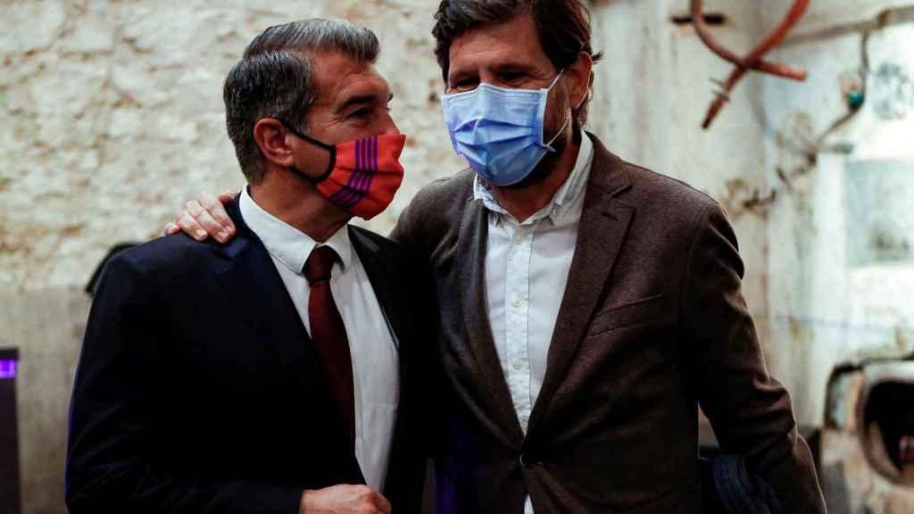 Joan Laporta y Mateu Alemany, durante un acto de la campaña del nuevo presidente del Barça