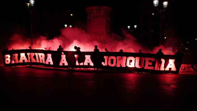 La pancarta de los ultras del PSG contra Shakira. Foto: Twitter (@PanameReBirth)