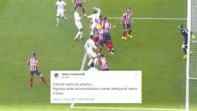 El mensaje del Atlético y la jugada de la mano de Felipe, en un fotomontaje