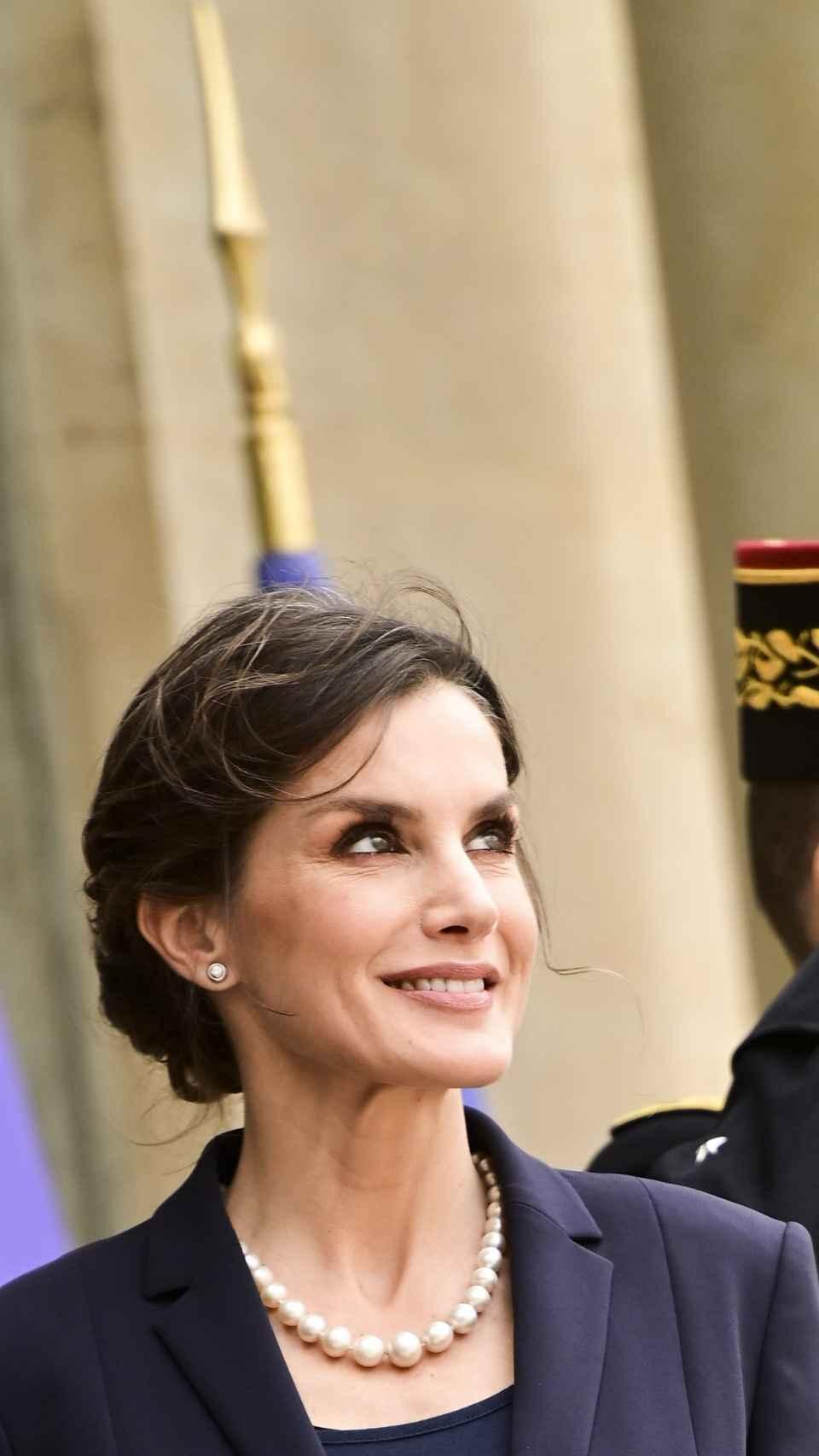 La reina Letizia en París en marzo de 2020.