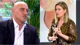 Kiko Matamoros y Cristina Soria en montaje de BLUPER.