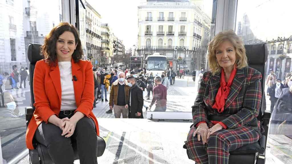 María Teresa Campos entrevistará a Isabel Díaz Ayuso en 'La Campos móvil'.