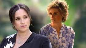 Meghan Markle y Diana de Gales en un montaje de JALEOS.