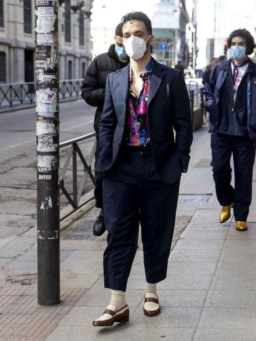 C. Tangana, en las calles de Madrid, el pasado mes de febrero.