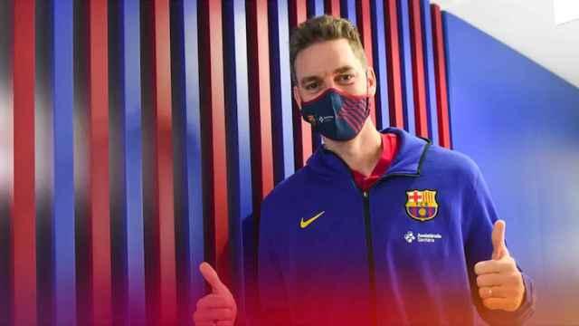 Pau Gasol tras pasar reconocimiento médico con el Barça